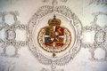 Danish royal crest at the rosenborg castle on ceiling of Royalty Free Stock Photography