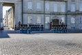Danish Royal Guards at Amalienborg Palace in Copenhagen