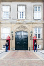 Danish royal life guard posted at amalienborg palace in copenhag copenhagen aug unknown copenhagen denmark on august guards is Stock Photography