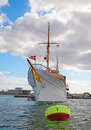 Danish Royal yacht Royalty Free Stock Photography