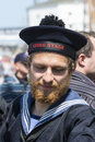 Danish seaman young from the fullrigger georg stage aarhus denmark the tall ships races Stock Photos