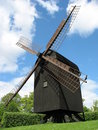 Danish wooden windmill Stock Photos