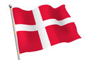Dannebrog denmark civil and state flag Royalty Free Stock Images