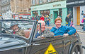 Danny alexander at election lord wallace of saltaire and right honorable leaving high street inverness before defeat the uk Stock Photography