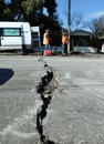 Dano do terremoto, Christchurch Nova Zelândia Fotografia de Stock