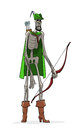 Danse macabre robin hood in lincoln green clothes Royalty Free Stock Images