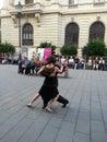 Dansende mensen boekarest verjaardag Royalty-vrije Stock Afbeeldingen