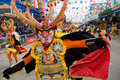 Danseur de diable au carnaval d'Oruro en Bolivie Photo stock
