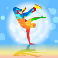 Danseur indicates disco dancing et breakdancer de coupure Photo stock