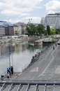 Danube canal of vienna the donaukanal is a former arm the river now regulated as a water channel since within the city Stock Image