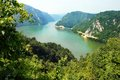 Danube canyon valley veliki kazan on the serbian romanian border Royalty Free Stock Image