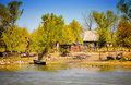 Danube Delta traditional house Royalty Free Stock Image
