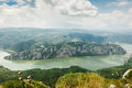 Danube gorges canyon iron gate djerdap national park serbia iron gate is the largest and longest water breakthrough in europe is Stock Images