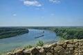 The danube quay river bratislava devin slovakia Royalty Free Stock Photography