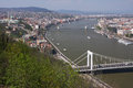 Danube river flowing in budapest hungary Stock Images