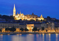 Danube river, Matthias Church and Fisherman's Bastion Royalty Free Stock Photo