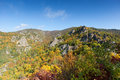 Danube valley in autumn austria with colorful deciduous trees Stock Image