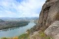 Danube valley in wachau austria autumnal Stock Photo