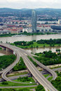 Danube in Vienna Stock Photography