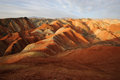 Danxia landform located in zhanye gansu china Royalty Free Stock Photography