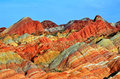 Danxia landform in zhangye city china Stock Images