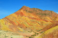 Danxia landform in zhangye city china Royalty Free Stock Images