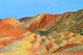 Danxia landform in zhangye city china Stock Photo