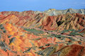 Danxia landform in zhangye city china Stock Image