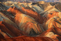 Danxia landform in zhanye gansu china Royalty Free Stock Photo