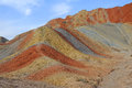 Danxia landform in zhanye gansu china Stock Photos