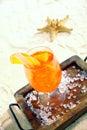 Daquiri cocktail on a tropical beach Royalty Free Stock Photo