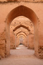 Dar el makhzen sultan moulay ismail stables in meknes morocco Royalty Free Stock Photos
