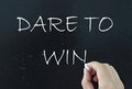 Dare to win Royalty Free Stock Photo