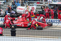 Dario franchitti in the pit at indy Stock Photography