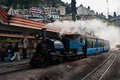The darjeeling himalayan railway is a world heritage site also known as toy train is a ft mm narrow gauge railway that runs Royalty Free Stock Image