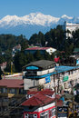 Darjeeling landscape a popular tourist destination it is located in the mahabharat range or lesser himalaya at an average Stock Photography