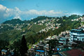 Darjeeling landscape a popular tourist destination it is located in the mahabharat range or lesser himalaya at an average Royalty Free Stock Image
