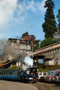 The darjeeling toy train himalayan railway is a world heritage site also known as is a ft mm narrow gauge railway that runs Stock Photos