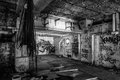 Dark abandoned scary factory room see my other works in portfolio Stock Photo