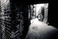 Dark alley inner city Royalty Free Stock Photo