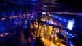 Dark bar in the underground night club