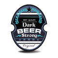 Dark beer label isolated with the text best quality strong concept Stock Images