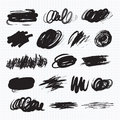 Dark blots. Scribble stains Royalty Free Stock Photo