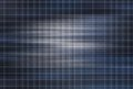 Dark blue background with squares