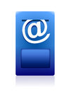 Dark blue brilliant mail box Royalty Free Stock Photo