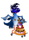 Dark blue dragon-New Year's a symbol of 2012 Royalty Free Stock Image