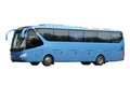The dark blue excursion bus Royalty Free Stock Photo
