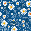 Dark blue floral pattern Royalty Free Stock Photography