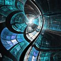 Dark blue fractal texture Royalty Free Stock Photo