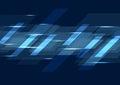 Dark blue glowing tech geometric background